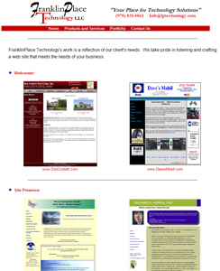Click for Portfolio of Web Sites